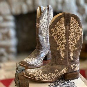Corral Crane Embroidered Western Boho Boots